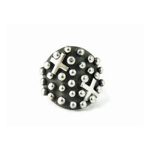 Sterling Silver Cross Ring Size 7 1/2 By Ronnie Willie, Navajo (RG3582)