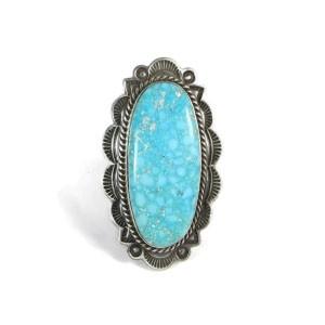 Handmade Water Web Kingman Turquoise Ring Size 9 - Albert Jake