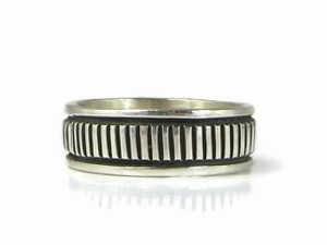 Sterling Silver Band Ring Size 6 1/2 by Bruce Morgan, Navajo