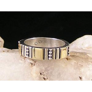 14k Gold & Silver Ring Size 11