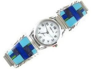 Multi Gemstone Inlay Watch (WTH581)