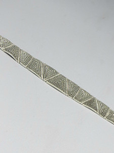 Sterling Silver Maze Design Link Bracelet by Elgin Tom