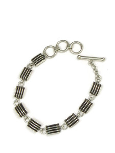 Silver Channel Link Bracelet by Francis Jones