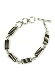 Silver Channel Link Bracelet by Francis Jones (BR5501)