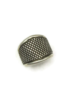 Silver Cigar Band Ring Size 7 by Raymond Coriz, Santo Domingo