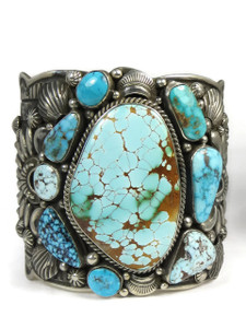 Large Turquoise Picasso Sampler Cuff Bracelet by Darryl Becenti