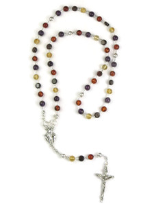 Amethyst, Citrine, Amber & Garnet Rosary Beads with Detachable Beads