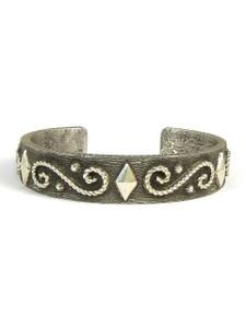 Silver Tufa Cast Bracelet by Ernest Rangel (BR5585)