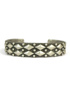 Silver Tufa Cast Bracelet by Ernest Rangel (BR5586)