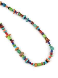 Multi Gemstone Bead Necklace 16""