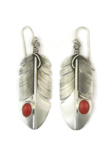 Sterling Silver Mediterranean Coral Earrings by Lena Platero (ER3680)