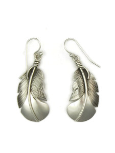 "Sterling Silver Feather Earrings 1 3/4"" (ER3718)"