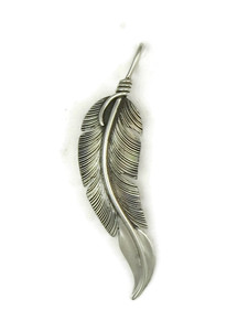 Sterling Silver Feather Pendant by Lena Platero (PD4866)