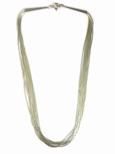 "10 Strand Liquid Silver Necklace - Adjustable Length 16""- 18"""