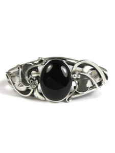 Silver Onyx Bracelet by Les Baker Jewelry