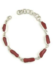 Mediterranean Coral Link Bracelet by Shirley Henry (BR6037)