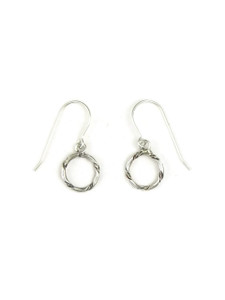 Small Silver Circle Earrings