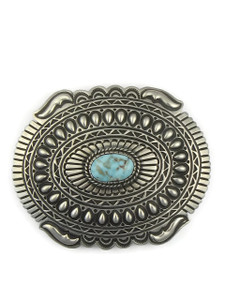 Dry Creek Turquoise Belt Buckle by Tsosie White