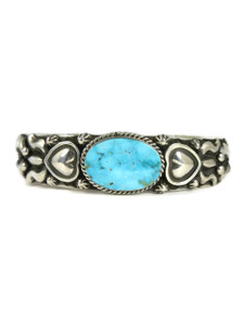 Kingman Turquoise Bracelet by Darryl Becenti (BR4731)