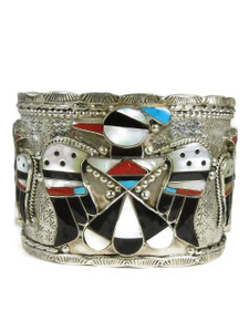 Thunderbird Inlay Cuff Bracelet by Bobby Shack