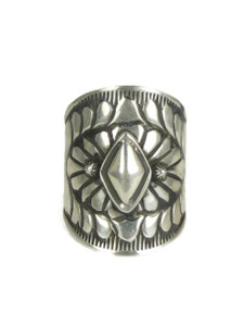 Handmade Silver Cigar Band Ring Size 8 by Derrick Gordon