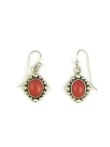 Mediterranean Coral Earrings by Elgin Tom