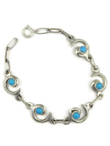 Sleeping Beauty Turquoise Swirl Link Bracelet by Isabel Kee (BR4284)
