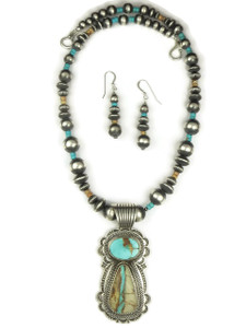 Royston Boulder Turquoise Necklace Set by Albert Jake