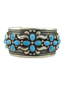 Sleeping Beauty Turquoise Cross Cuff Bracelet by Darryl Becenti