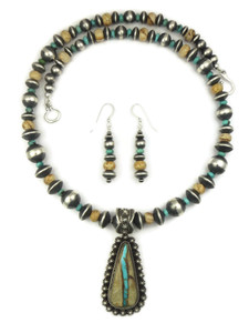 Royston Boulder Turquoise & Jasper Necklace Set by Happy Piaso (NK4625)