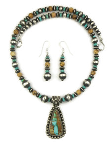 Royston Boulder Turquoise & Jasper Necklace Set by Happy Piaso (NK4626)