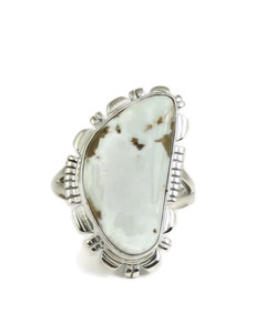 Dry Creek Turquoise Ring Size 8 1/2 by Larry Yazzie (RG4976)