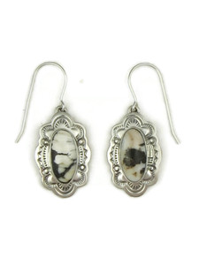White Buffalo Earrings by Frederick Chavez (ER4020)