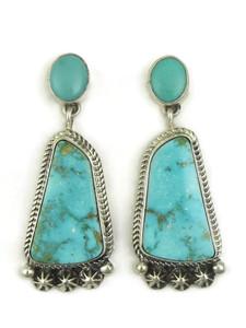 Kingman Turquoise Earrings by Geneva Apachito (ER4033)