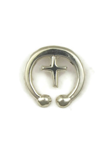 Silver Cross Naja Pendant by Mildred Parkhurst