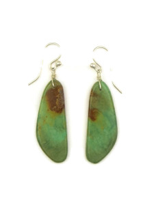 Turquoise Slab Earrings by Ronald Chavez (ER4127)