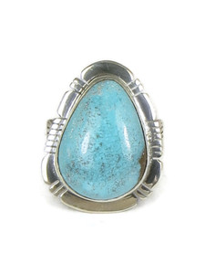 Kingman Turquoise Ring Size 7 by Phillip Sanchez