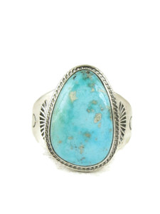 Natural Turquoise Ring Contemporary Design SIZE 11