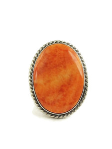 Spiny Oyster Shell Ring Size 8 by Linda Yazzie (RG5031)