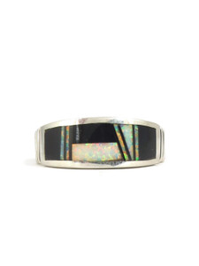 Jet & Opal Inlay Band Ring Size 11 3/4 (RG5047)