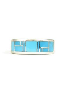 Kingman Turquoise Inlay Ring Size 7 (RG5055)