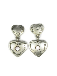Pink Mother of Pearl Heart Earrings (ER4193)
