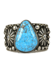 Kingman Webbed Turquoise Cuff Bracelet by Albert Jake (BR6024)