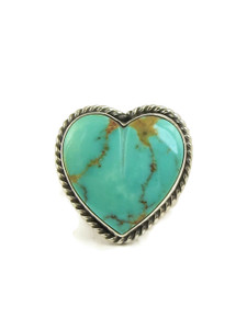 Royston Turquoise Heart Ring Size 7 by Linda Yazzie