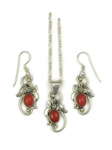 Mediterranean Coral Pendant Set by Les Baker Jewelry