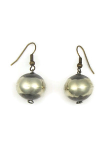 Silver Bead Earrings 16mm
