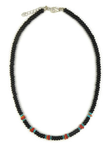 Onyx & Gemstone Bead Necklace (NK4345)
