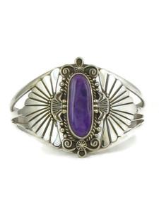 Silver Sugilite Bracelet by Fritson Toledo