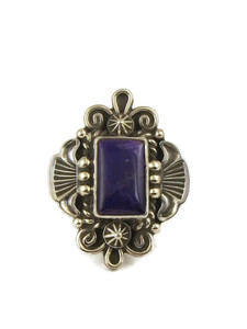 Silver Sugilite Ring Size 7 1/2 by Fritson Toledo