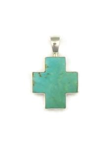 Turquoise Cross Pendant by Bernise Chavez (PD4096)